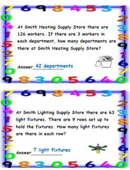 Back to School Activity-4th Grade Math
