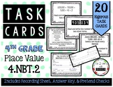 4th Grade Task Cards | Place Value | Writing Numbers 4.NBT.2