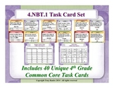 4th Grade Math Task Cards - Place Value Understanding 4.NBT.1