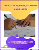 Points, Rays, Lines, Line Segments and Planes Task Cards