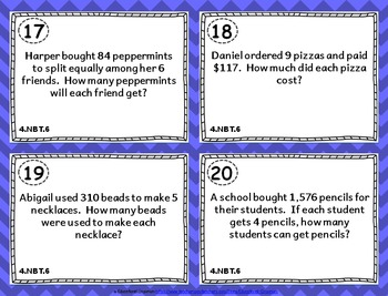 4th Grade NBT Task Cards: ALL Numbers in Base Ten Task Cards Fourth Grade 4.NBT