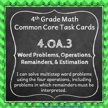 4th Grade OA Task Cards Bundle: Operations & Algebraic Thinking Task Cards 4.OA