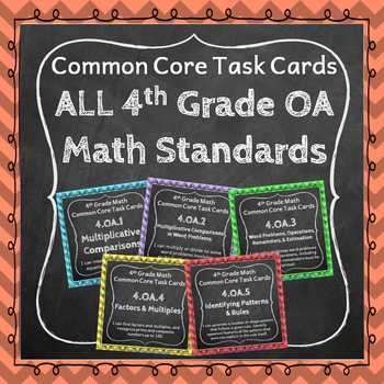 4th Grade OA Task Cards Bundle: Operations & Algebraic Thi