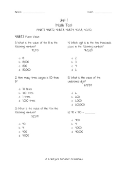 4th Grade Math Test Bundle: ALL Common Core Standards-6 Units-Entire Year