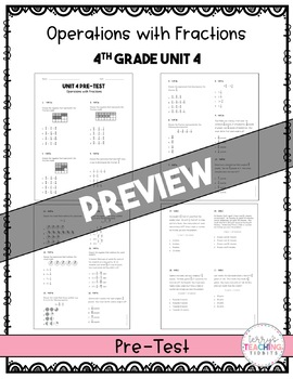 4th Grade Math Test Bundle {Paper and Pencil}