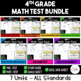 4th Grade Math Test Bundle {Paper and Pencil}