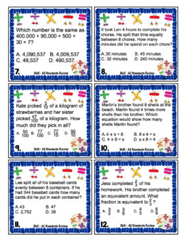 4th Grade Math Test Prep Board Game: All Standards Review