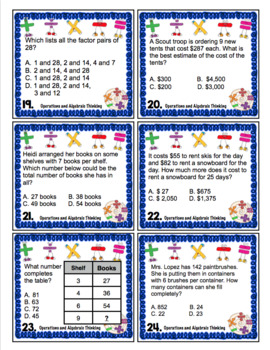 4th Grade Math Test Prep Board Game: Operations and Algebraic Thinking Review