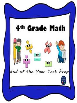 """4th Grade Math Test Prep """"Common Core Standards"""""""