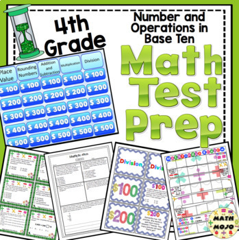 4th Grade Math Test Prep: Countdown to Testing Number and Operations Bundle