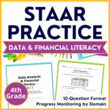 4th Grade Math STAAR Practice Set 7:  Data Analysis & Financial Literacy