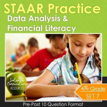 4th Grade Math STAAR Prep Data Analysis & Financial Litera