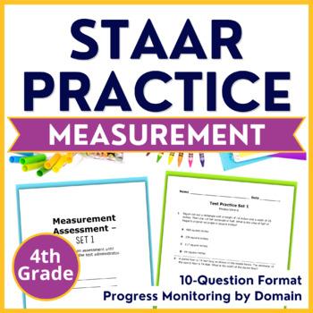 4th Grade Math Test Prep (Measurement STAAR Practice) TEKS 4.5D, 4.8ABC