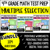 4th Grade Math Test Prep: Multiple Select Questions BUNDLE