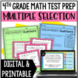 4th Grade Math Test Prep: Multiple Select Questions (Set 3)