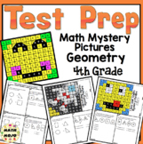 4th Grade Math Test Prep Mystery Pictures - Geometry