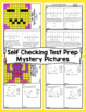 4th Grade Math Test Prep Mystery Pictures - Measurement and Data