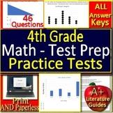 4th Grade Test Prep Math Practice #2 Spiral Review CCSS Smarter Balanced
