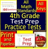 4th Grade Test Prep Math Practice Tests Spiral Review CCSS Smarter Balanced