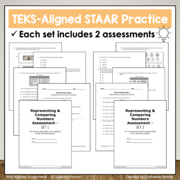 4th Grade Math STAAR Comparing Numbers TEKS 4 2A 4 2B 4 2C 4 2D 4 2E 4 4G