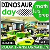 4th Grade Math Review  - Dinosaur Classroom Transformation
