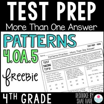 4th Grade Math Test Prep Review - Patterns 4OA5