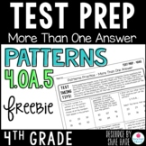 4th Grade Math Test Prep Review - Patterns 4OA5