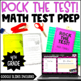 4th Grade Math Test Prep Review Booklet w/ Digital Math Test Prep Version