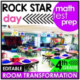 4th Grade End of Year Math Review  | Rock Star Room Transf