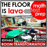 4th Grade End of Year Math Review  | The Floor is Lava Roo