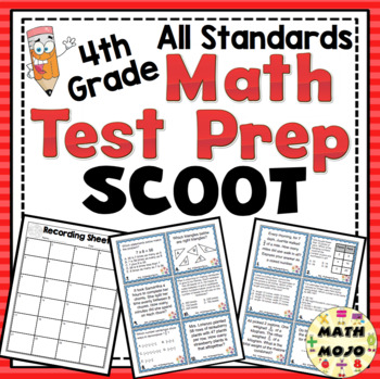 4th Grade Math Test Prep Scoot: All Standards Review