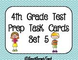 4th Grade Math Test Prep/Spiral Review Task Cards Set 5
