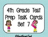 4th Grade Math Test Prep/Spiral Review Task Cards Set 7