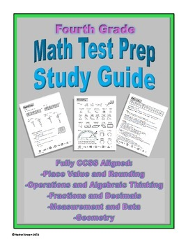 4th Grade Math Test Prep Study Guide