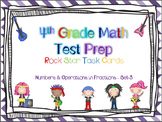 4th Grade Math Test Prep Task Cards - 4.NF ~ Set 3 {ROCK S