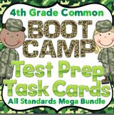 4th Grade Math Test Prep Task Cards (Boot Camp Theme)