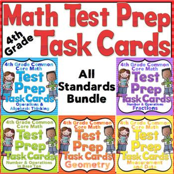 4th Grade Math Test Prep: 4th Grade Math Test Prep Task Cards Bundle