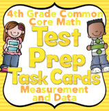 4th Grade Math Test Prep Task Cards (Measurement and Data)