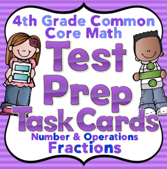 4th Grade Math Test Prep Task Cards (Number and Operations