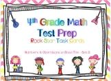 4th Grade Math Test Prep Task Cards - 4.NBT ~ Set 2 {ROCK