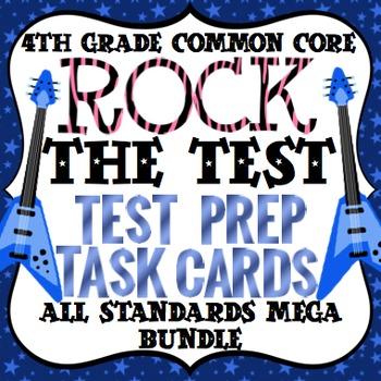 4th Grade Math Test Prep Task Cards (Rock the Test)