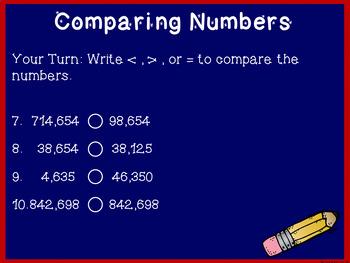 4th Grade Math Test Prep ~ Week 1 Class Review ~ CCSS