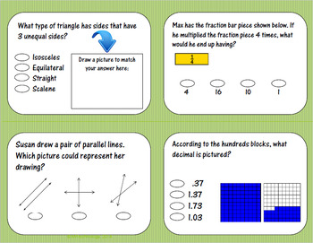 4th Grade Math Test Prep and Higher Order Thinking Reading 2 Pack
