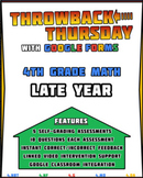4th Grade Math Review | Google Forms LATE YEAR with Detail