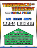 4th Grade Math Review | Google Forms MEGA BUNDLE with Deta