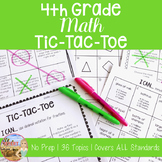 4th Grade Math Tic-Tac-Toe Activity Bundle