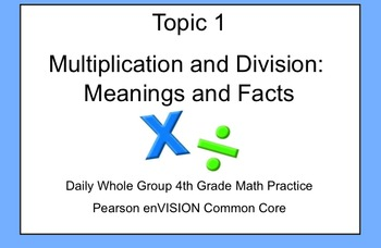 4th Grade Math: Topic 1 Guided Practice (Pearson enVISION Common Core)