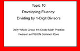 4th Grade Math: Topic 10 Guided Practice (Pearson enVISION