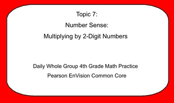 4th Grade Math: Topic 7 Guided Practice (Pearson enVISION