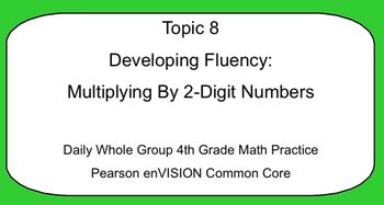 4th Grade Math: Topic 8 Guided Practice (Pearson enVISION
